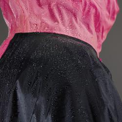 PONCHO PLUIE VÉLO 500 BLEU MARINE ROSE