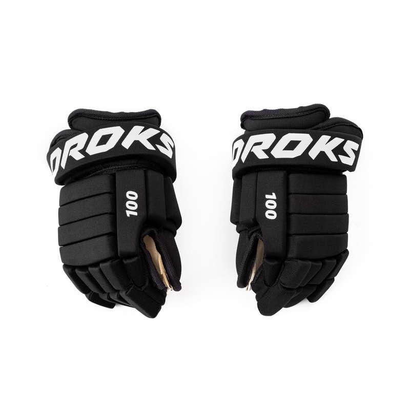 ВЗРОСЛАЯ ХОККЕЙНАЯ ЭКИПИРОВКА АРЕНА Хоккей - Перчатки для хоккея 100 взрос OROKS - Экипировка