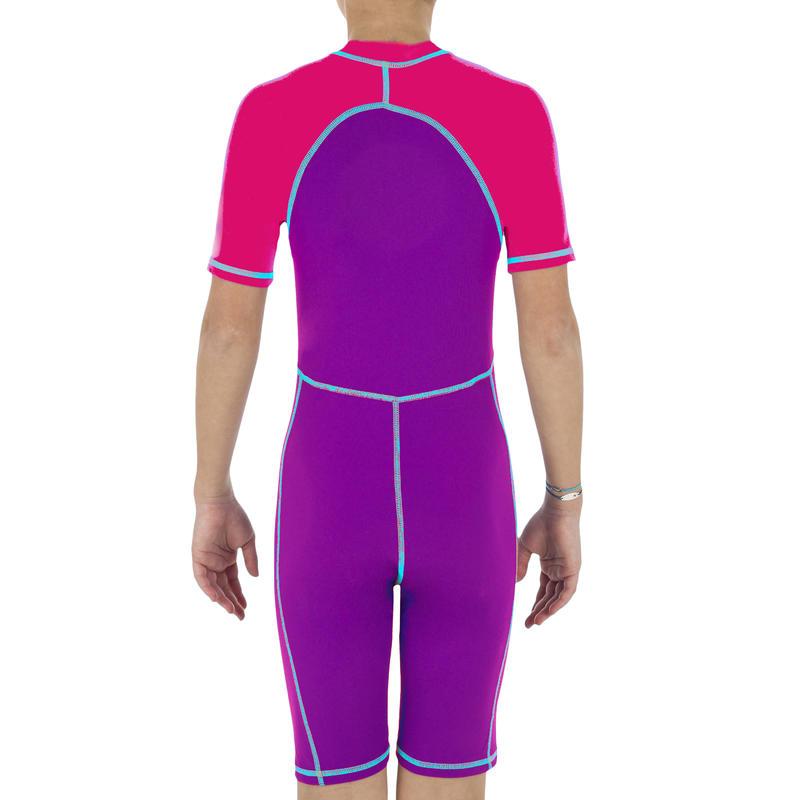 Girls' Shorty Swimming Suit - Pink Purple