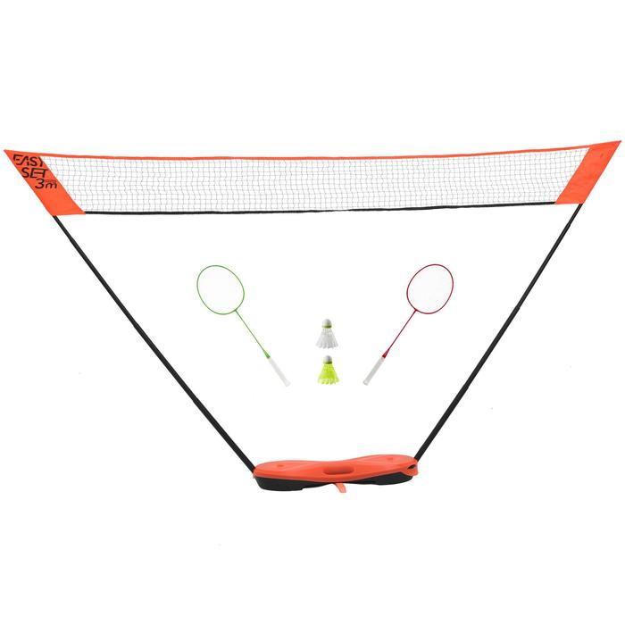 Filet de Badminton EASY SET 3M - ORANGE