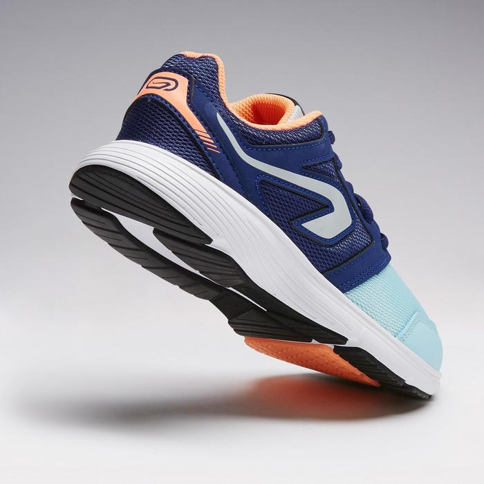 Zapatillas Atletismo Running Kalenji Run Support Cordones Niños Azules y Coral