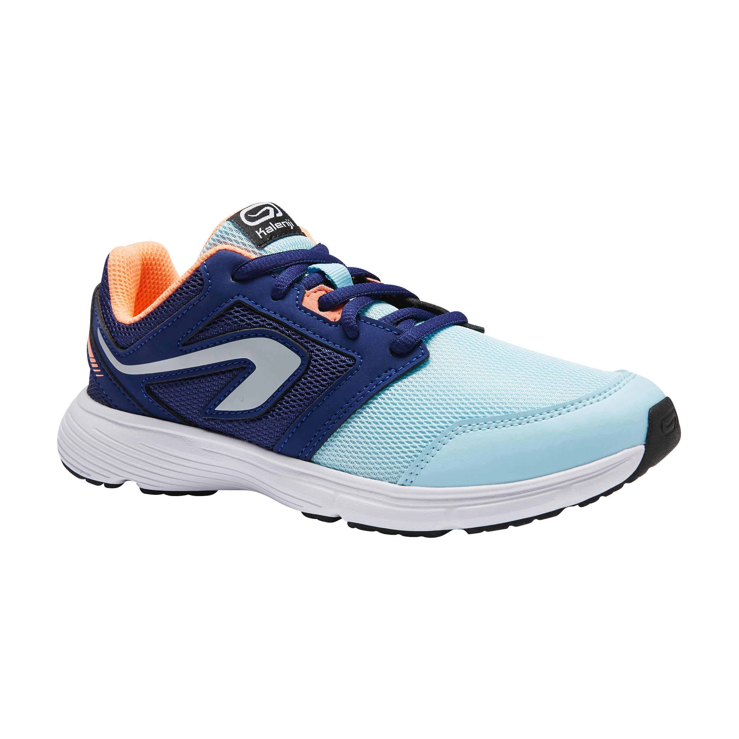 Kalenji Atletiekschoenen voor kinderen Run Support veters blauw/koraalrood