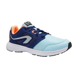 CHAUSSURES ATHLETISME ENFANT RUN SUPPORT LACETS BLEUES CORAILS
