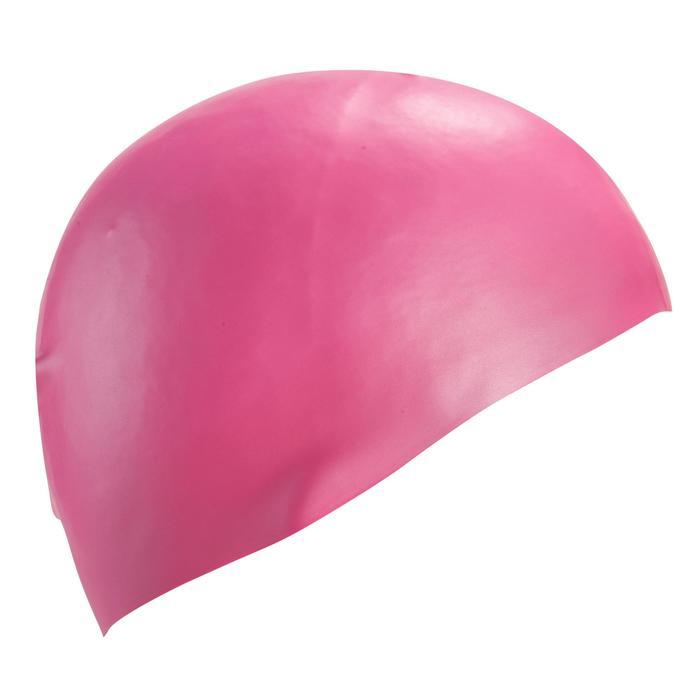 Siliconen badmuts 500 roze