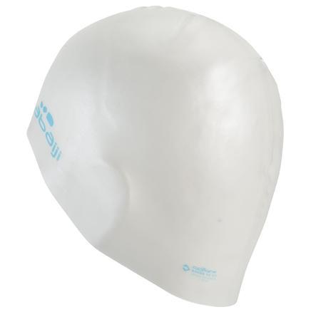SILICONE SWIM CAP - WHITE