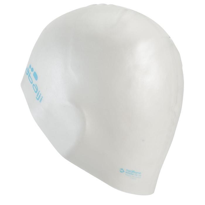 Badekappe Silikon 500 weiß