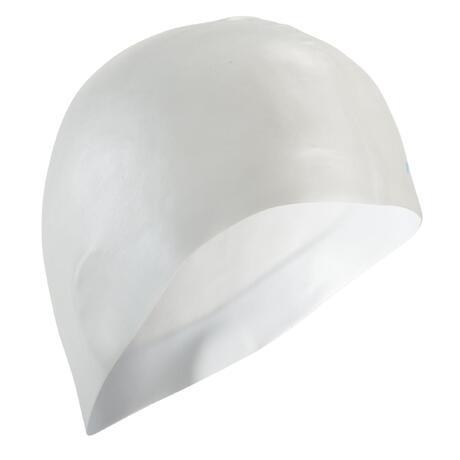 85a3feb5d5e 500 SILICONE SWIM CAP WHITE