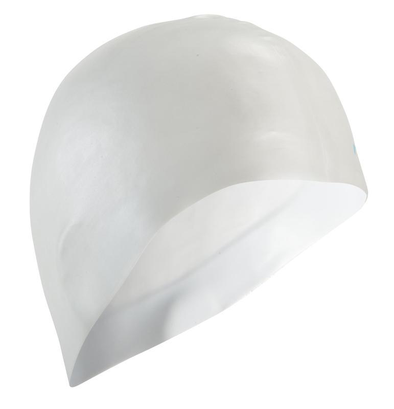 500 SILICONE SWIM CAP WHITE