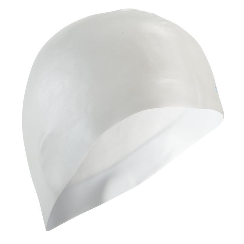 Siliconen badmuts wit