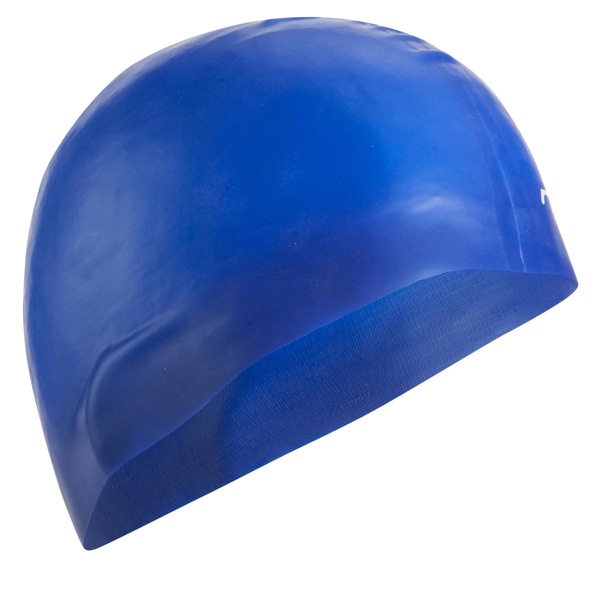 Silicone Swim Cap Blue Nabaiji