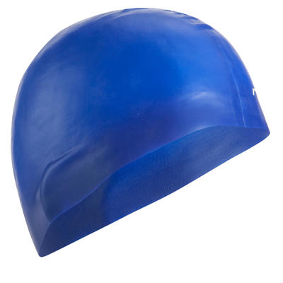 500 SILICONE SWIM CAP BLUE