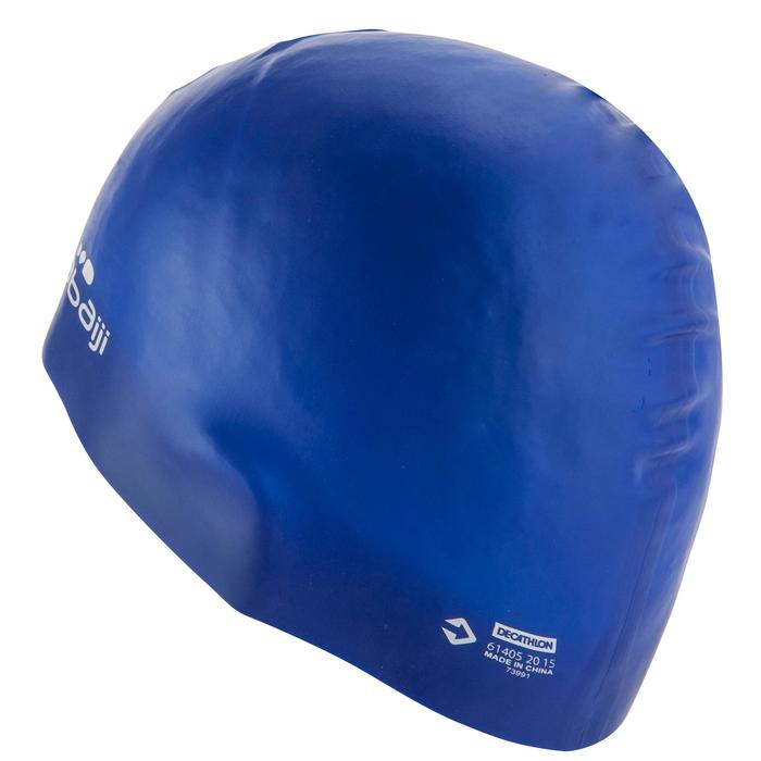 Siliconen badmuts 500 blauw