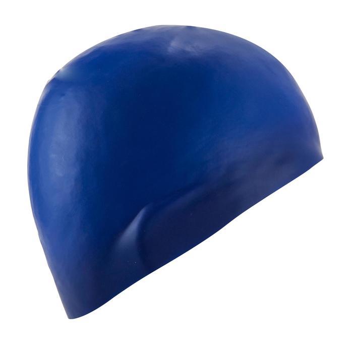 Gorro Natación Aguas Abiertas Nabaiji 500 Adulto Azul Silicona