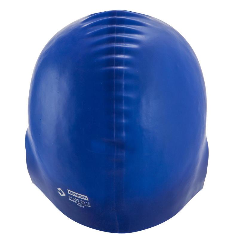 swim cap silicone - blue
