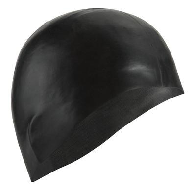 500 SILICONE SWIM CAP - BLACK