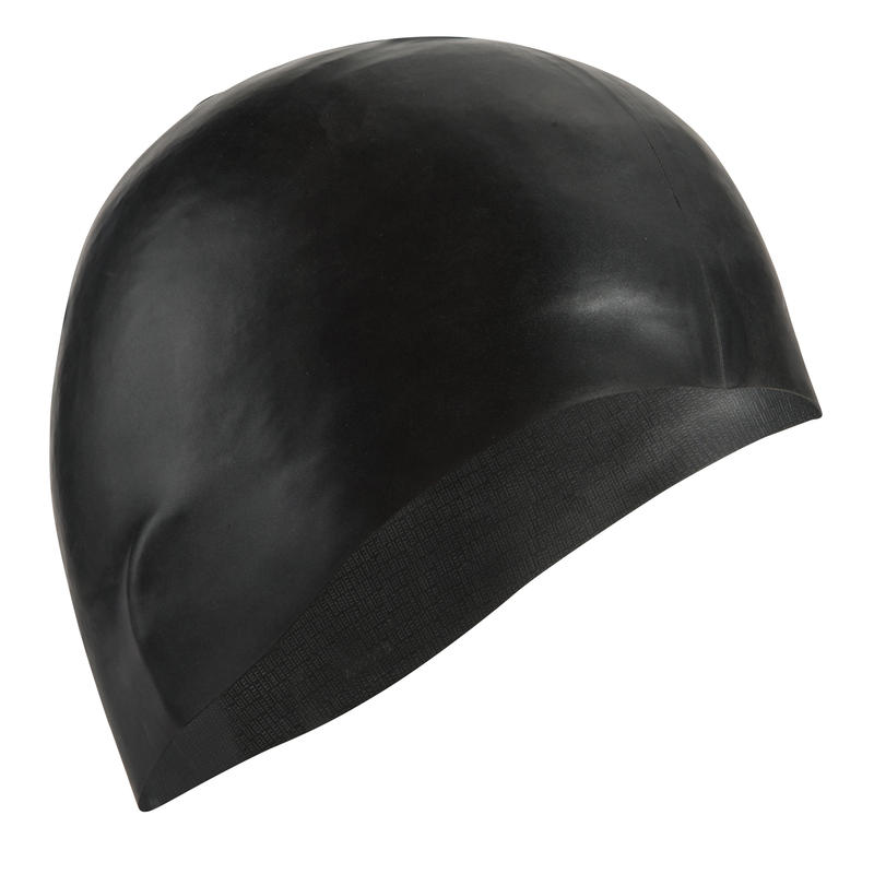 500 SILICONE SWIM CAP BLACK