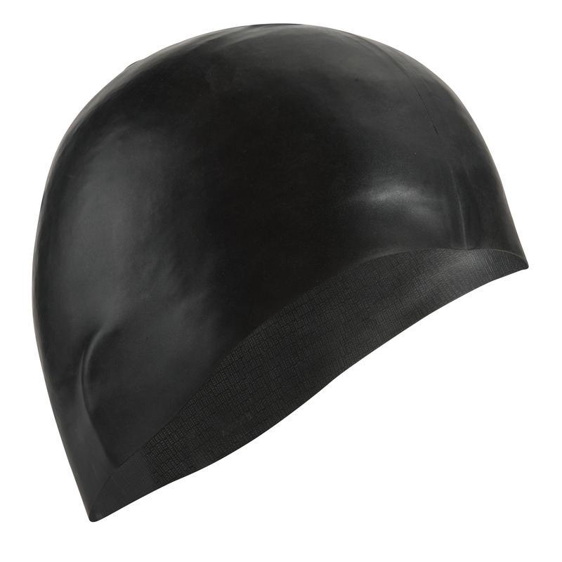 SILICONE SWIM CAP - BLACK