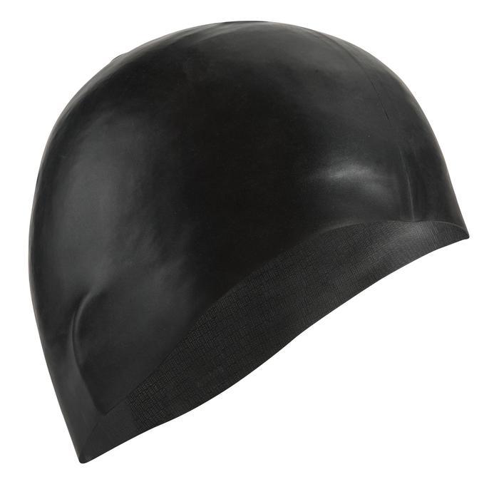Siliconen badmuts 500 zwart