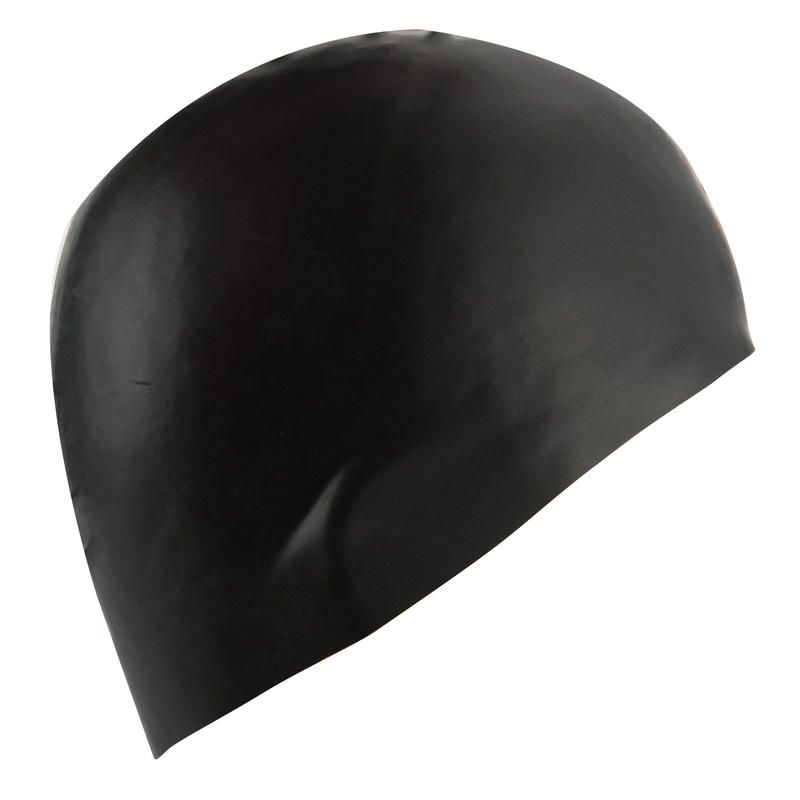 500 SILICONE SWIM CAP - BLACK