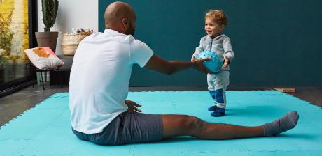 ginástica para criança e bebé