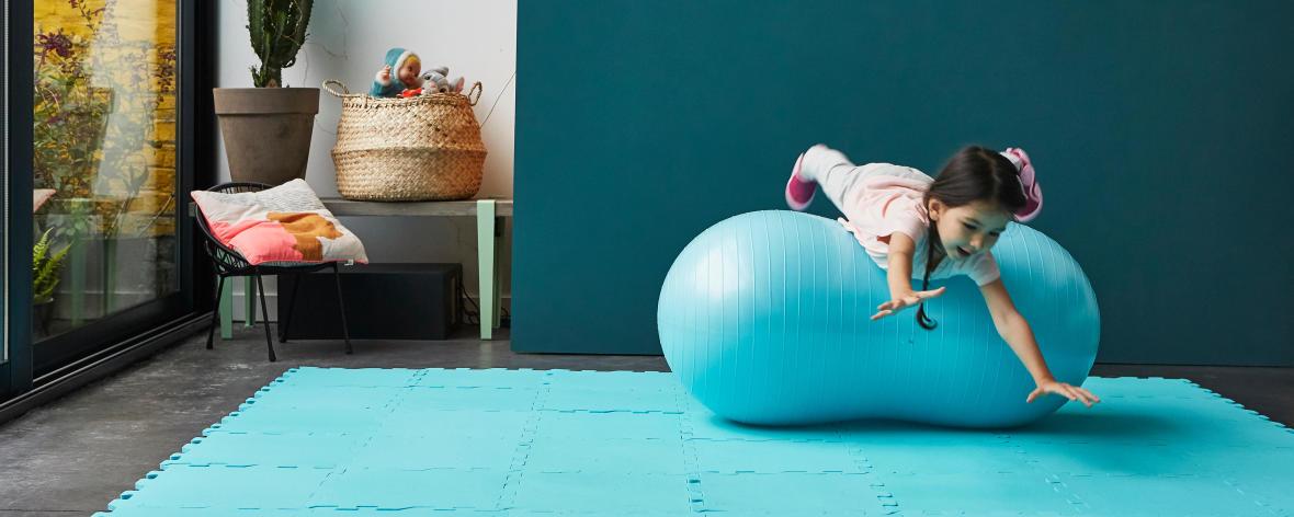 peanut ball baby gym