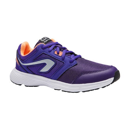 RUN SUPPORT CHILDREN'S ATHLETICS SHOES WITH LACES PURPLE CORAL