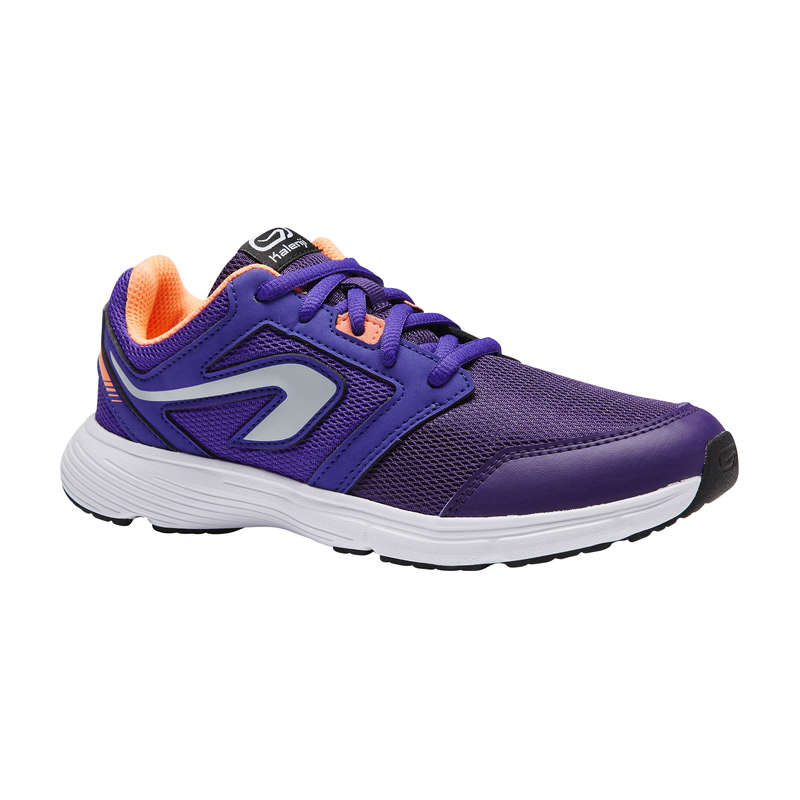 KIDS ATHLETICS SHOES Running - RUN SUPPORT CHILD LACE PURPLE KALENJI - Running Footwear