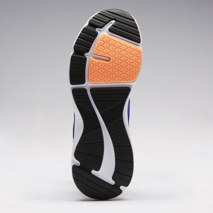 Atletiekschoenen voor kinderen Run Support veters paars/koraalrood