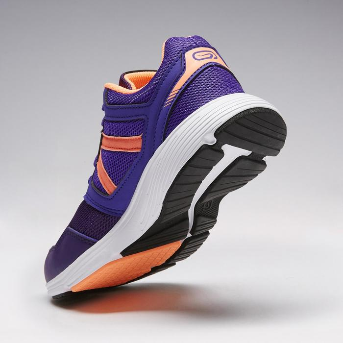 Laufschuhe Run Support Kinder Schnürung violett/koralle
