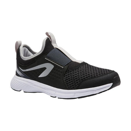RUN SUPPORT EASY KIDS' ATHLETICS SHOES - BLACK/GREY