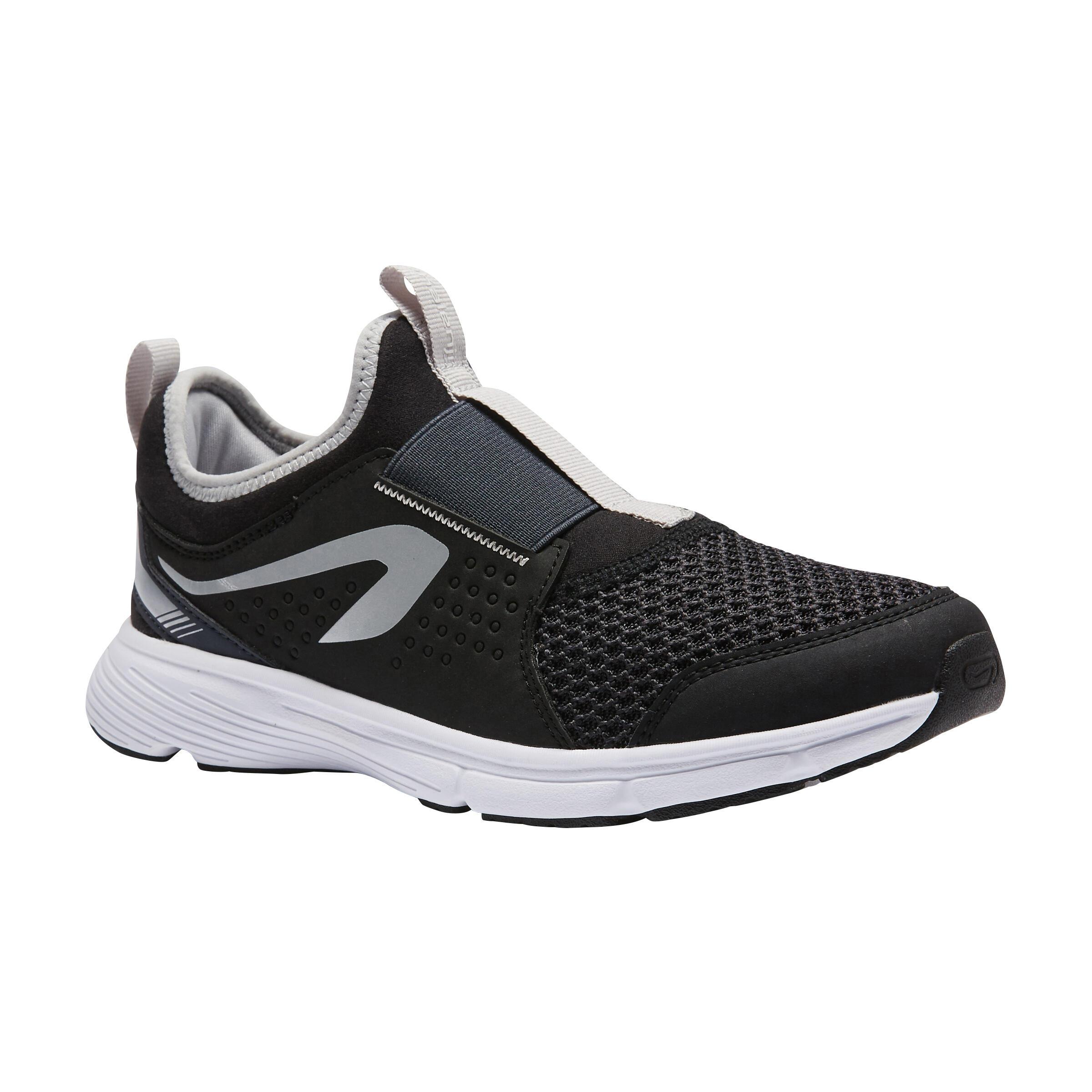 Kalenji Hardloopschoenen kinderen Run Support Easy zwart grijs
