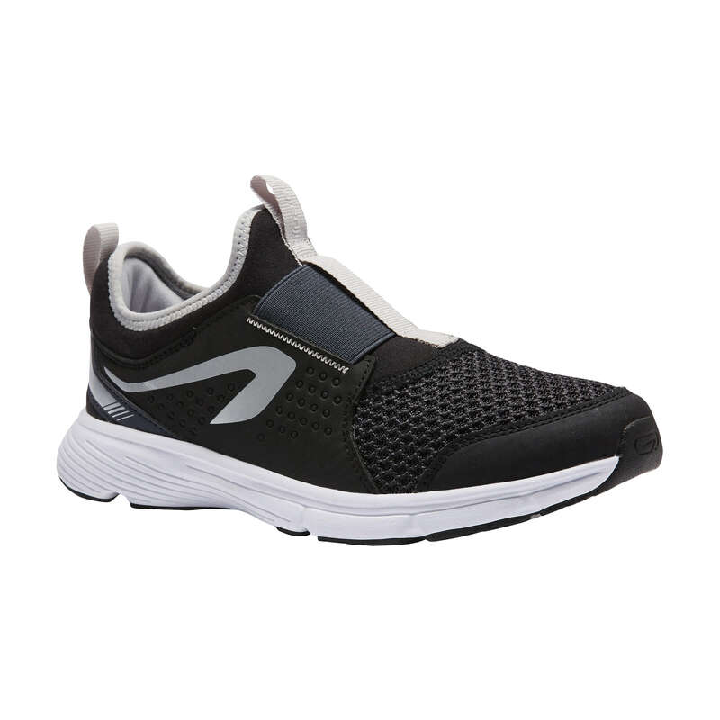 KIDS ATHLETICS SHOES Athletics - AT RUN SUPPORT EASY BLACK/GREY KALENJI - Sports