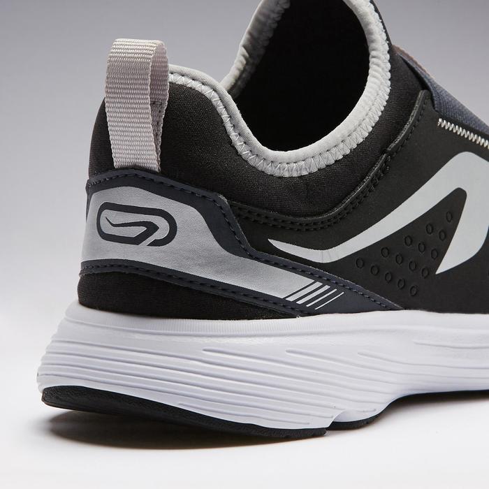 Zapatillas Atletismo Running Kalenji Run Support Easy Niños Negro/Azul/gris