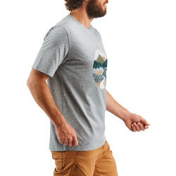NH500 Men's Country Walking T-Shirt - Mottled Grey