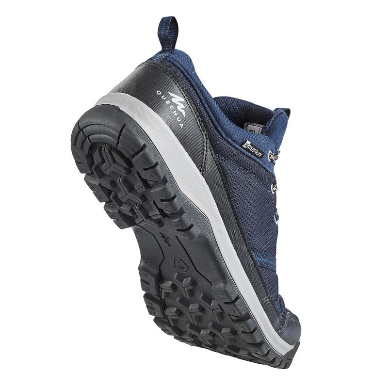 Plave vodootporne muške cipele za pešačenje NH150