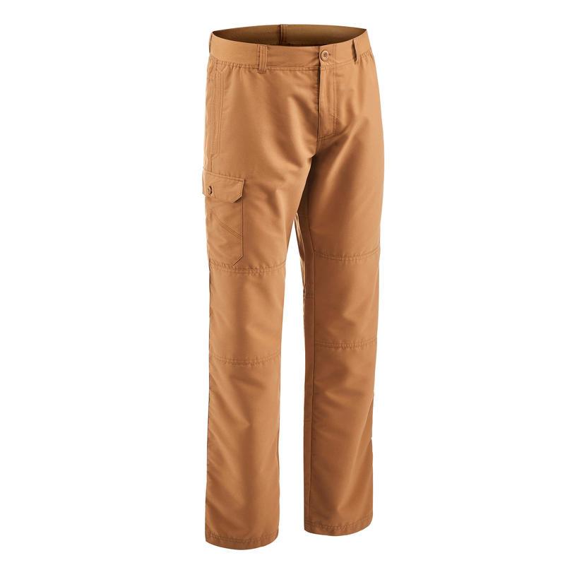 Men's NH100 country walking trousers - Hazelnut