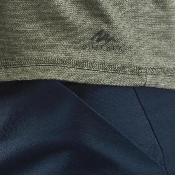 Tee shirt randonnée nature NH500 fresh kaki homme
