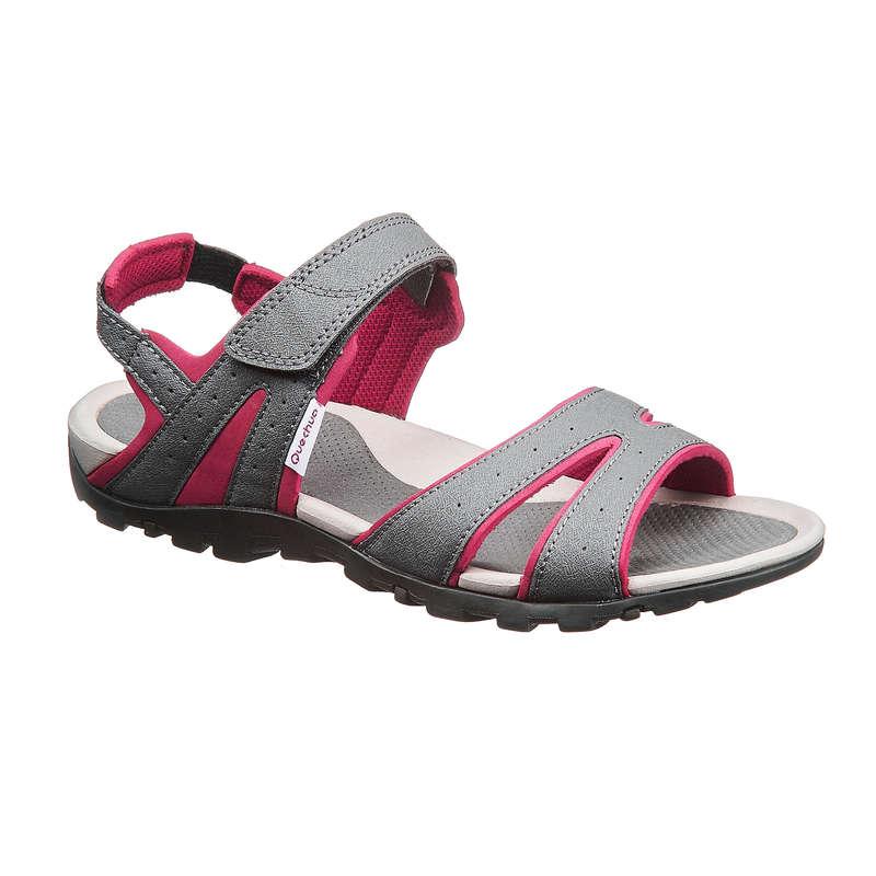 WOMEN HIKING SANDALS/SHOES WARM WEAT - NH100 Womens Walking Sandals - Grey/Pink