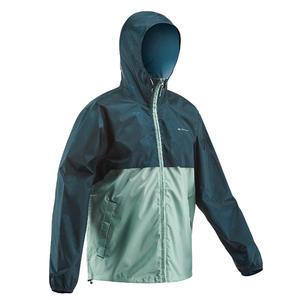 Men's country walking rain coat - NH100 Raincut Full Zip