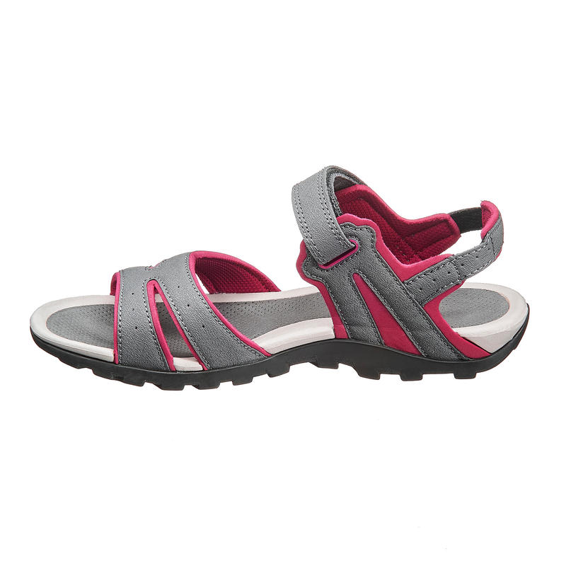 Women's Sandals NH100 - Grey & Pink