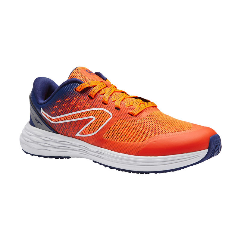 KIPRUN CHILDREN'S TRACK AND FIELD SHOES RED AND BLUE