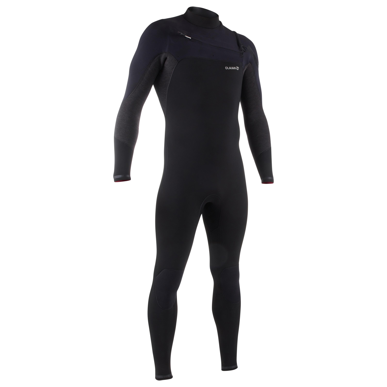 Olaian Wetsuit Surf 900 in neopreen 4/3 mm voor heren zwart