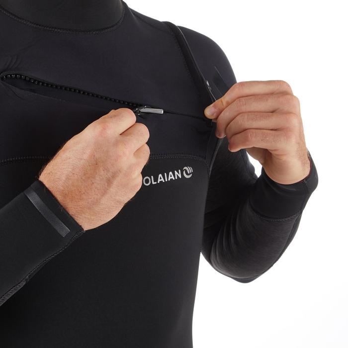 Wetsuit Surf 900 in neopreen 4/3 mm voor heren zwart