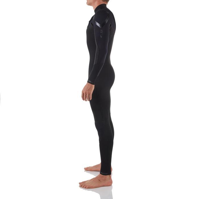 Wetsuit voor surfen heren 900 neopreen 4/3 mm zwart