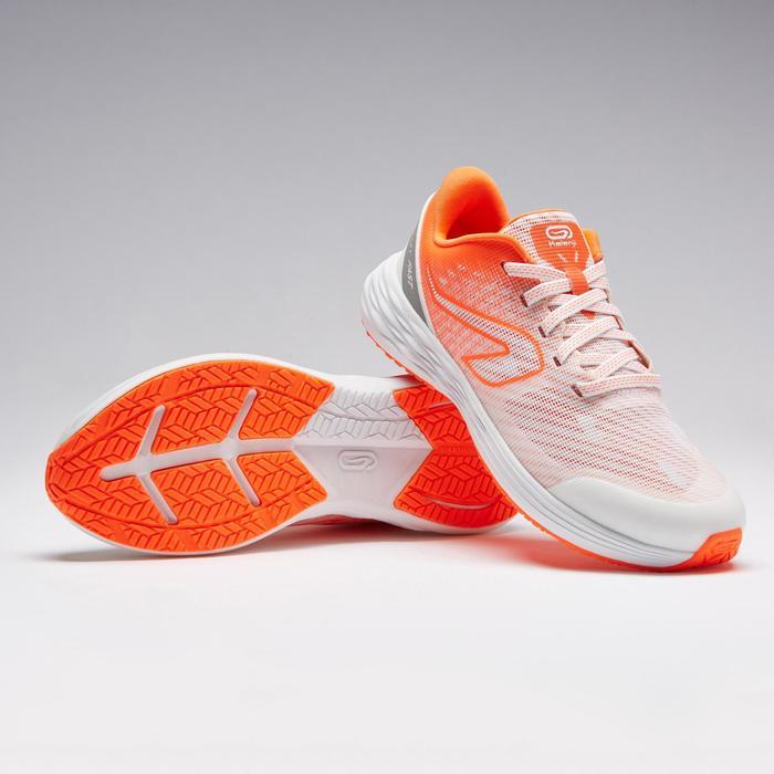 Atletiekschoenen voor kinderen Kiprun Fast wit/rood