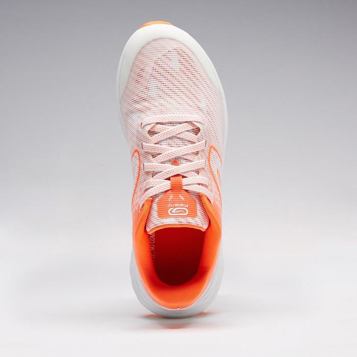 Laufschuhe Kiprun Fast Leichtathletik Kinder weiß/rot