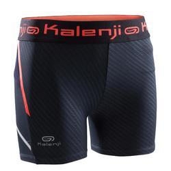 Pantalón Corto Short Running Kalenji Sprinter Niña Azul Grisáceo/Rojo