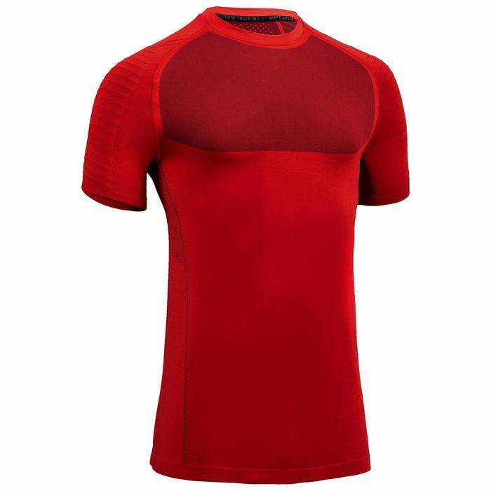 Cardiofitness T-shirt voor heren FTS 900 rood