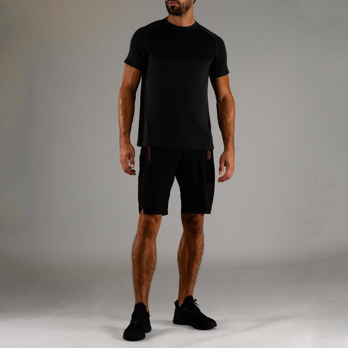 T-shirt voor cardiofitness heren FTS 900 donkergrijs
