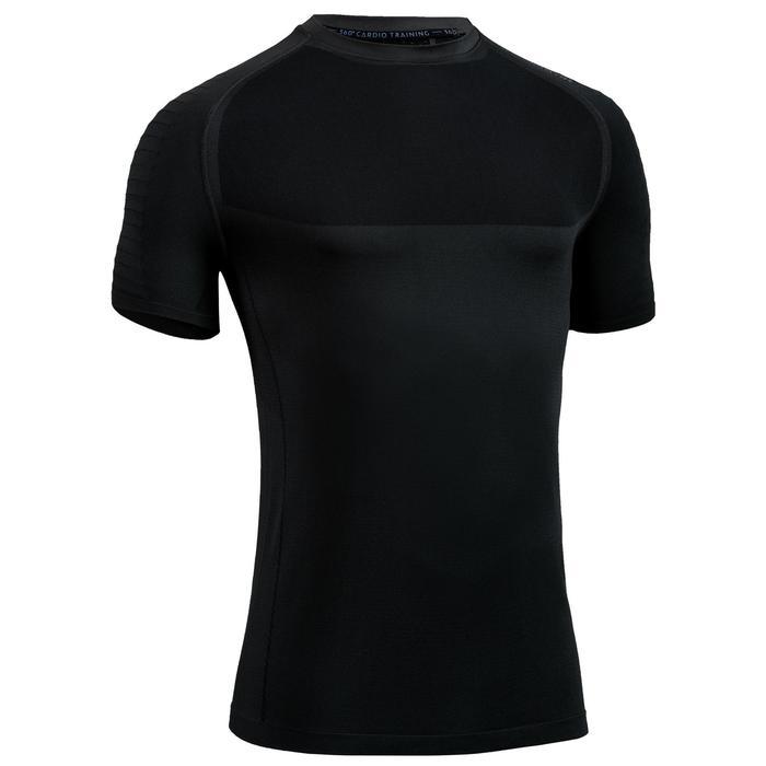 Tee shirt cardio fitness training homme FTS 900 gris foncé